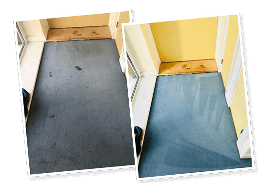 before and after carpet cleaned