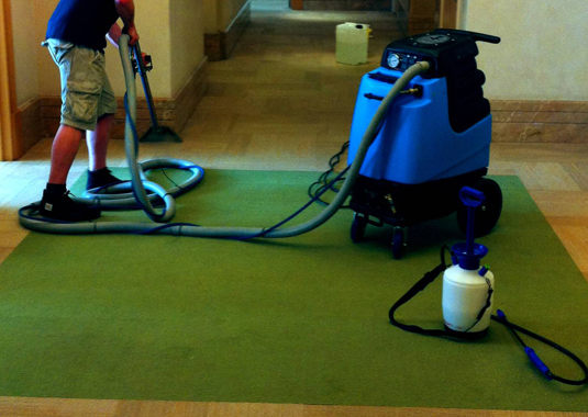 carpet cleaning interior hall