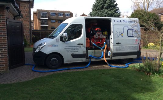 Cleaning carpets to premises with restricted access