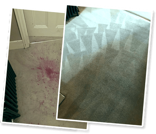 Carpet cleaning before and after photos in Petts Wood Kent