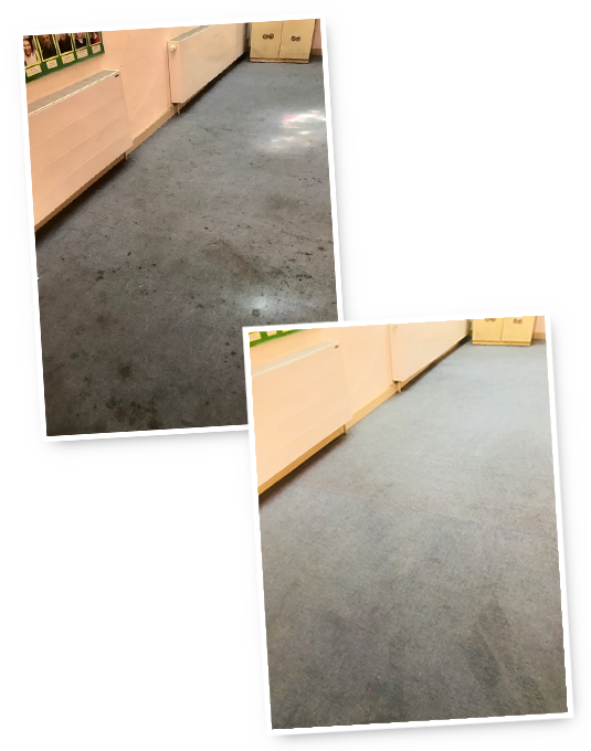 A Cleaner Carpet before and after photo in Bromley